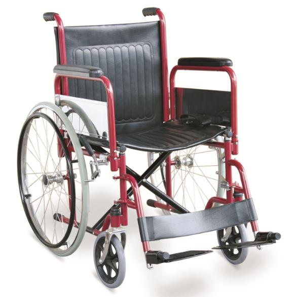 silla de ruedas reposabrazos y pies desmontables GM-102